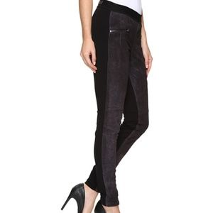 BLANK NYC SZ 29 SUEDE AND KNIT SKINNY LEGGINGS